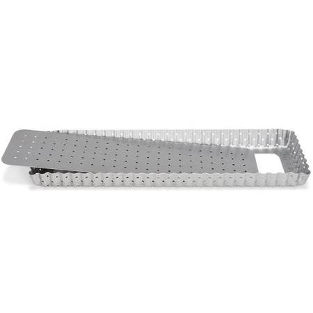 Patisse - Silvertop Tærteform Rektangulær Perforeret - 35 Cm