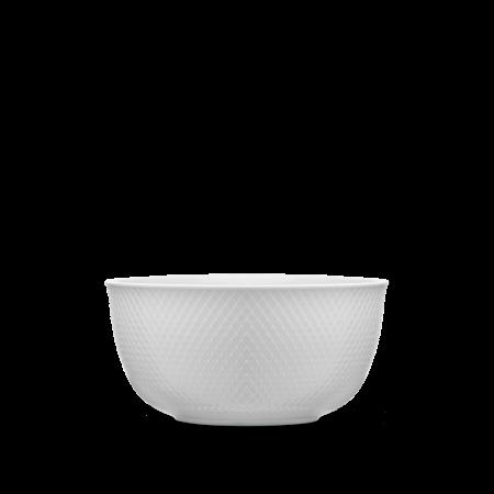 Lyngby - Rhombe Serveringsskål - Ø 17,5 Cm. Hvid