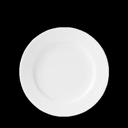 Lyngby - Rhombe Frokosttallerken - 21 Cm. Hvid