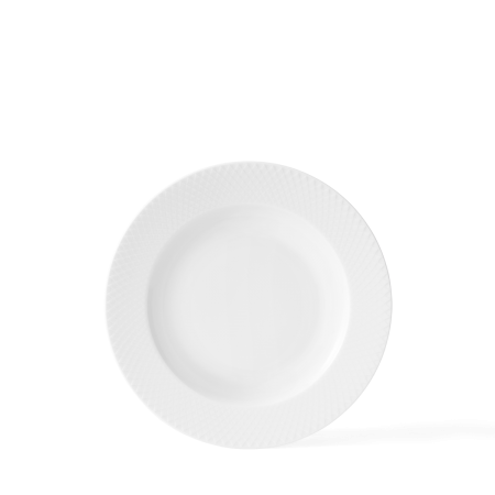 Lyngby - Rhombe Dybtallerken - 23 Cm. Hvid