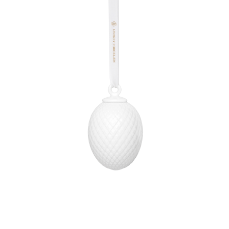 Rhombe Påskeophæng Hvid - H7,5 cm