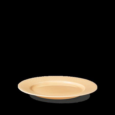 Lyngby - Rhombe Color Middagstallerken Ø27 Cm - Sand