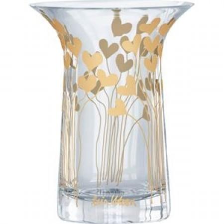 Rosendahl - Filigran Vase 16 Cm. - M/Guld Hjerter