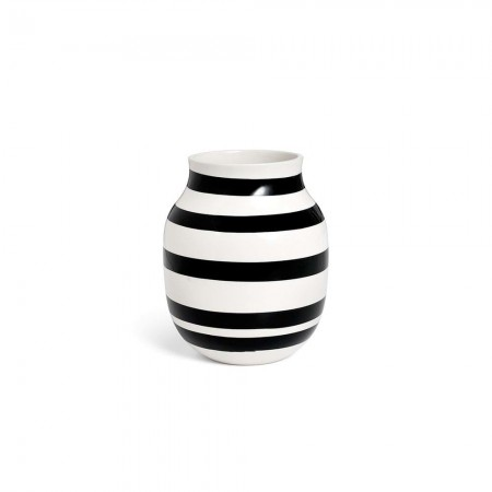 Kähler - Omaggio Vase Sort - H20 Cm