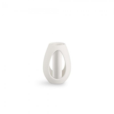 Kähler - Kokong Lysestage med cylinder Hvid - H12,5 cm