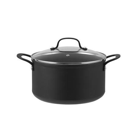 Pillivuyt Gourmet - Arc Gryde M. Glaslåg Sort - 2 Liter