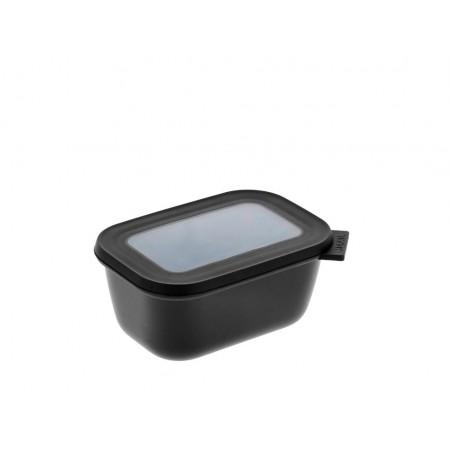 Mepal - Cirqula Rektangulær skål m/låg 750 ml - Black