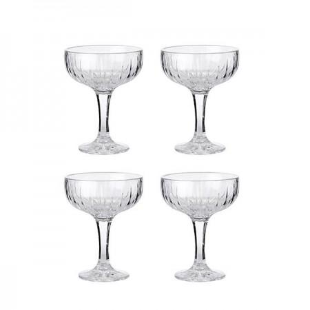 Aida - Relief Champagneskåle - 4 Stk. 25 Cl.