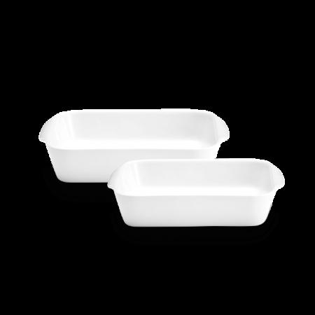 Pillivuyt - Kvadratfadsæt Nr. 2 Og 3 - Hvid L17/22Cm B17/22Cm