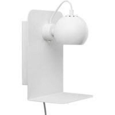 Frandsen - Ball væglampe med USB hvid