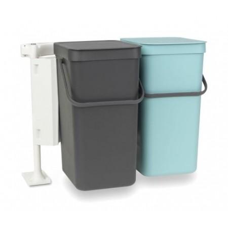 Brabantia - Sorteringsaffaldsspand Indbygningsmodul Med 2 x 12 Liter