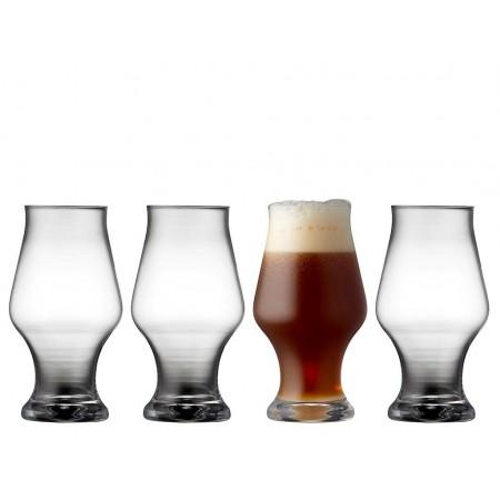 Lyngby - Krystal Dark Beer Ølglas 4 Stk. - 57 Cl