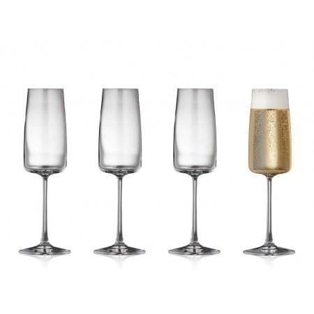 Lyngby - Krystal Zero Champagneglas 4 Stk. - 30 Cl