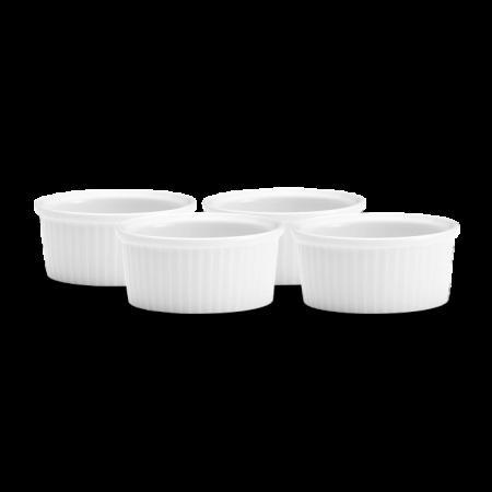Pillivuyt - Ramekinsæt Lav Nr. 1 -  4 Stk. Hvid 15 cl Ø9Cm H4Cm