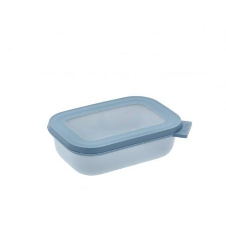 Mepal - Cirqula Rektangulær skål m/låg 500 ml - Nordic blue