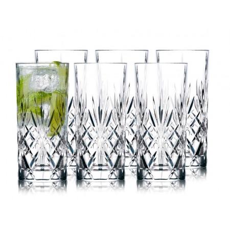 Lyngby - Krystal Melodia Highball Glas 6 Stk. - 36 Cl