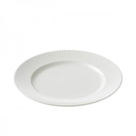 Aida - Groovy Stentøj - Frokosttallerken 21 Cm. Hvid