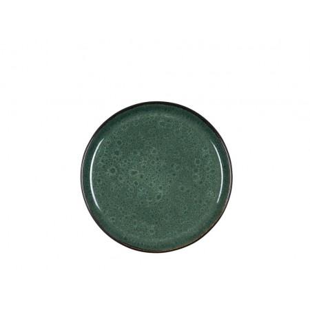 BITZ - Gastro Tallerken Dia. 21 x 2,0 cm - Sort/Grøn