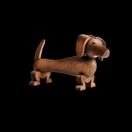Kay Bojesen Gravhund - Valnøddetræ 10,5 Cm