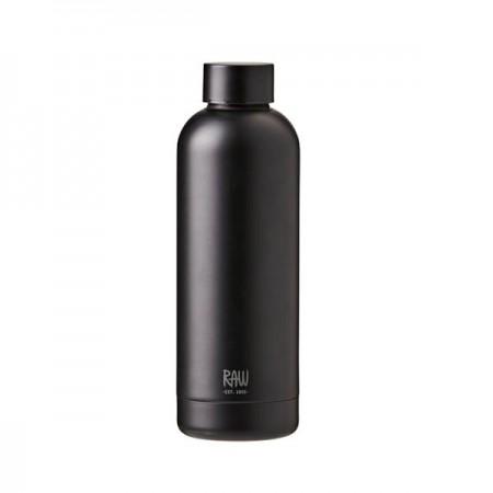 Aida - RAW Termoflaske I Stål 0,5 L - Mat Grøn . Flotte termoflasker der holder kaffe og the varmt, men også isvand, saft og smoothies kolde.