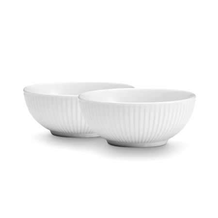 Pillivuyt - Plissé Skål 2 Stk - Hvidvid 60 Cl Ø15Cm