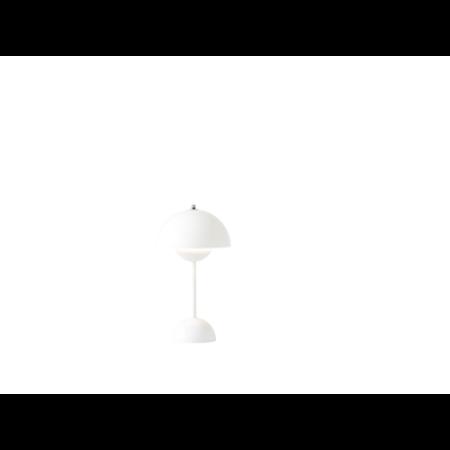 &Tradition -Flowerpot opladelig bordlampe VP9 hvid