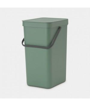 Brabantia - Affaldsspand m/ Låg - Affaldssortering - Ny Grøn - 16 Liter