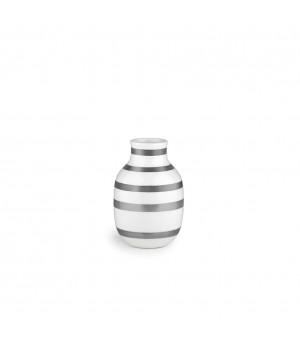Kähler Omaggio Vase - Højde 12,5 Cm. Sølv