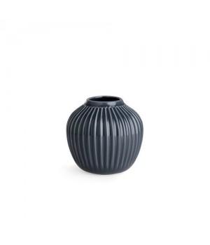 Kähler Hammershøi Vase - 12,5 Cm. Antracitgrå.