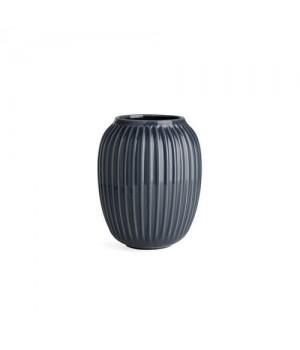 Kähler Hammershøi Vase - 20 Cm. Antracitgrå