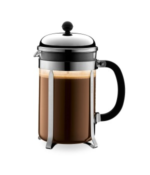 Bodum - CHAMBORD® Kaffebrygger Forkromet - 12 kop, 1.5 l