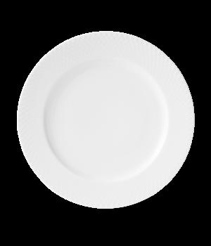Lyngby - Rhombe Middagstallerken - 27 Cm. Hvid