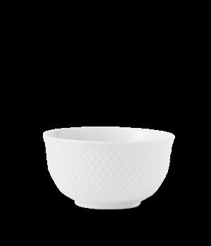 Lyngby - Rhombe Skål - 14 Cm. Hvid