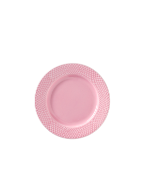 Lyngby - Rhombe Color Frokosttallerken Ø21 Cm - Rosa