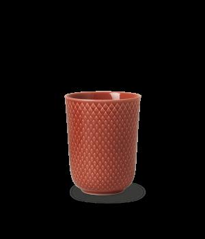 Lyngby - Rhombe Color Krus 33 Cl - Terracotta