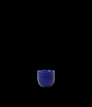 Lyngby - Rhombe Color Æggebæger Blå - Ø5 cm. Farve: Blå. Materiale: Porcelæn. Diameter: 5 cm. Højde: 4,5 cm.