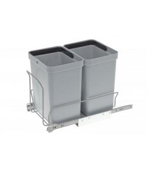 Sorteringsaffaldsspande – m. Indbygningsmodul – 2 x 10 Liter - Grå