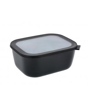 Mepal Cirqula - Rektangulær skål m/låg 3000 ml - Black