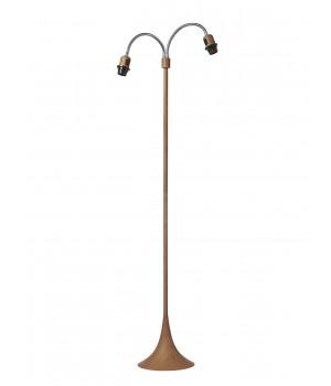 Nielsen Light - Fodgængerlampe Træ Look U/Skærm