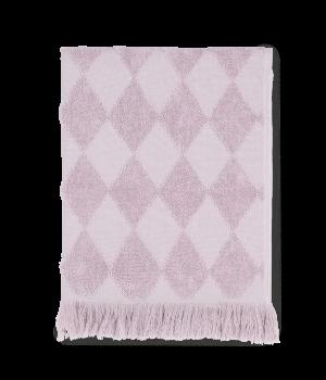 JUNA - Diamant Håndklæde 70x140 Cm - Rosa