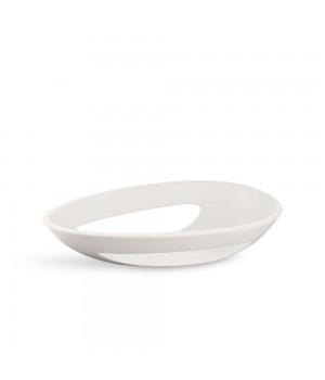 Kähler - Kokong Ovalt bordfad Hvid - 40x23,5 cm