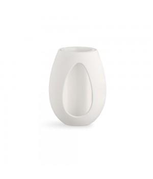 Kähler - Kokong Vase med cylinder Hvid - H22 cm