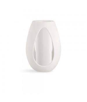 Kähler - Kokong Vase med cylinder Hvid - H33 cm. Serie: Kokong. Designer: Bernadotte & Kylberg. Farve: Hvid. Materiale: Fajance. Diameter: 24 cm. Højde: 33 cm.
