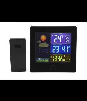 Trådløs vejrstation med radiostyret ur