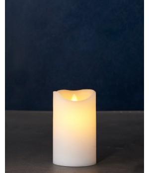 SIRIUS - SARA EXCLUSIVE HVID Ø:7,5 H:12,5CM BEVÆGELIG FLAMME