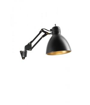 Nordic Living - Archi W1 væglampe mat sort med messing