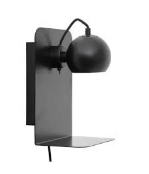 Frandsen - Ball væglampe med USB sort
