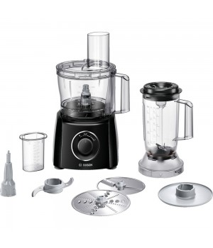Bosch - Foodprocessor 800 W - Sort Med Blender
