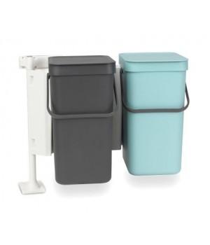 Brabantia - Sorteringsaffaldsspand Indbygningsmodul Med 2 x 16 Liter