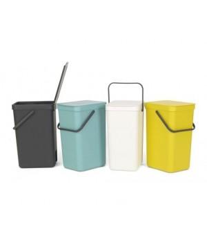Brabantia - Affaldsspand m/ Låg - Affaldssortering 16 Liter - Grå